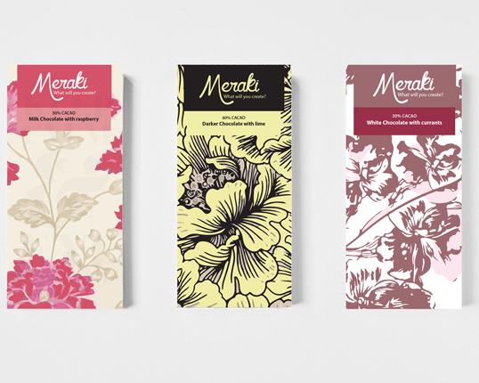 Meraki Chocolate Brand Identity and Packaging