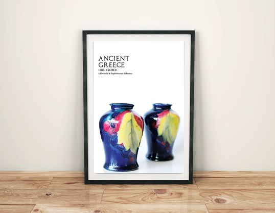 Ancient Greece Design History Poster