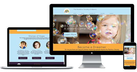 The Rainbow Society Website Redesign