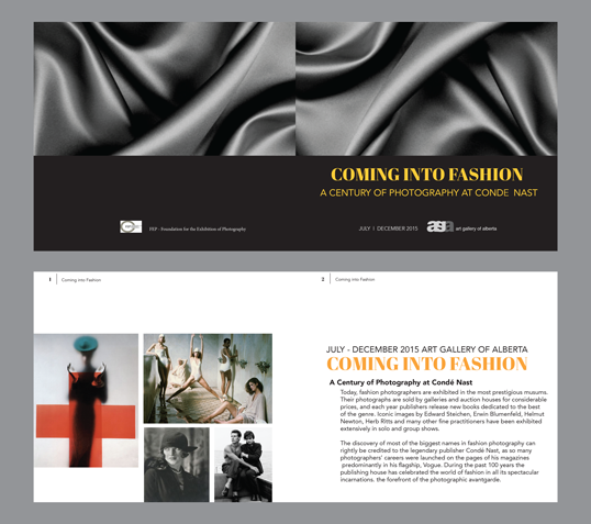 """Coming Into Fashion"" Catalogue Spread"