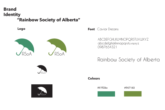 Rainbow Society of Alberta Logo Redesign