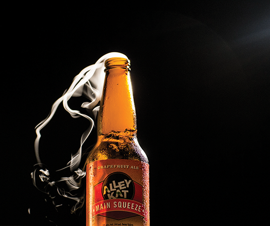 Product shot for Alley Kat Brewery
