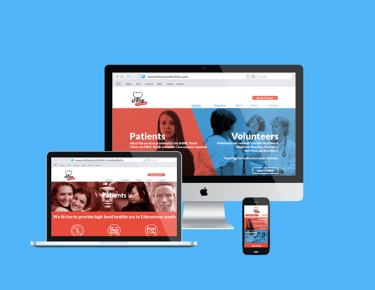 Shine Youth Clinic Website Redesign
