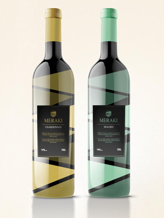 Meraki Wine Branding