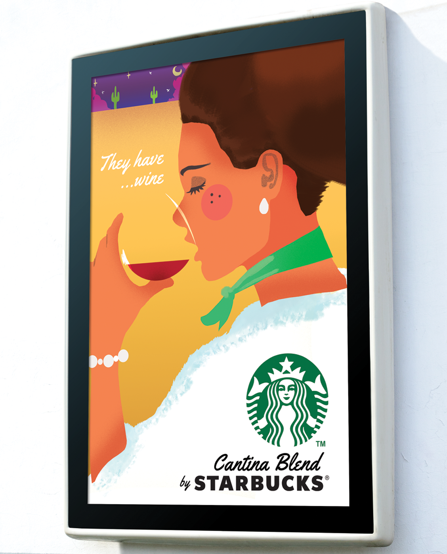 Starbucks Cantina Blend Poster