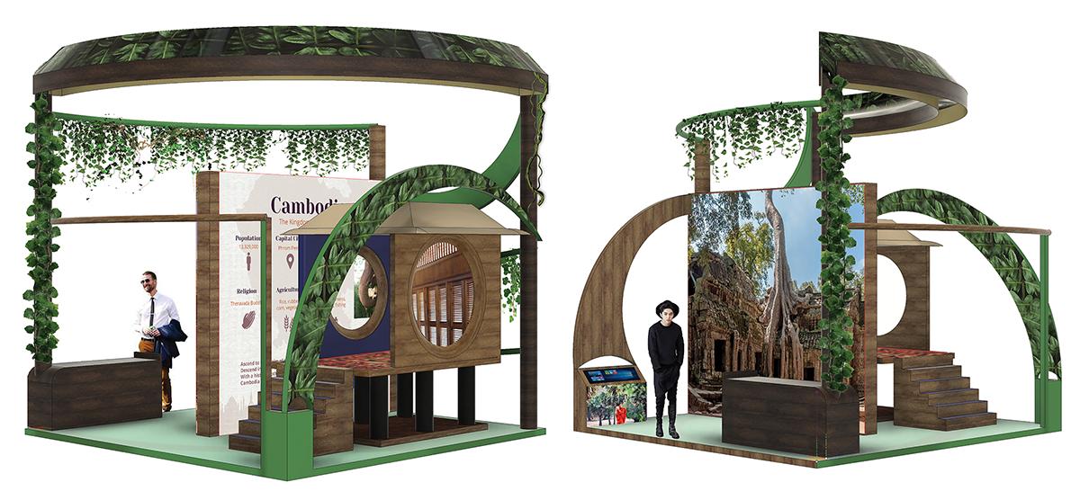 Cambodian Exhibit Design