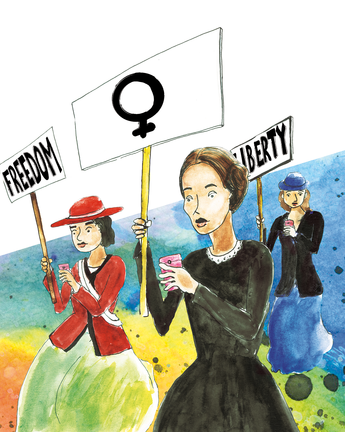 Feminism + Technology - Editorial Illustration
