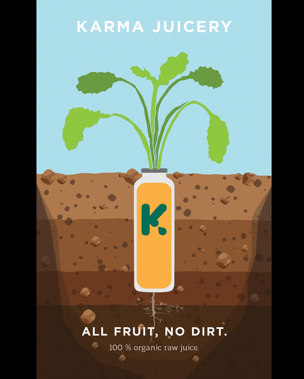 Karma Juicery Advertisement Poster