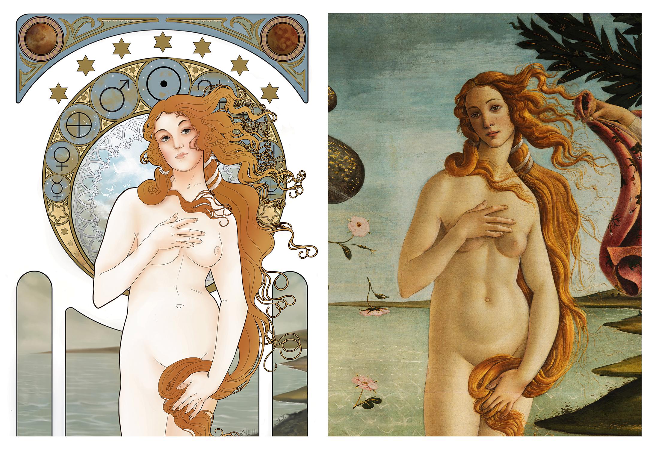 Alphonse Mucha's Birth of Venus 2