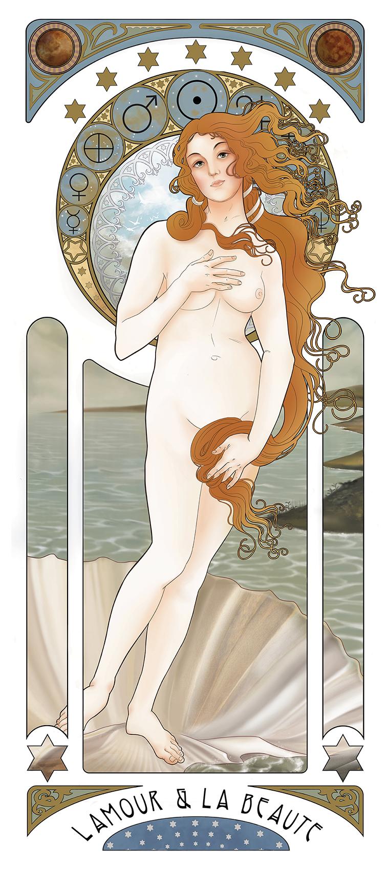 Alphonse Mucha's Birth of Venus 1